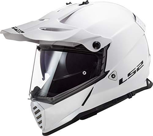 LS2 Casco Cross Moto Pioneer EVO Blanco S
