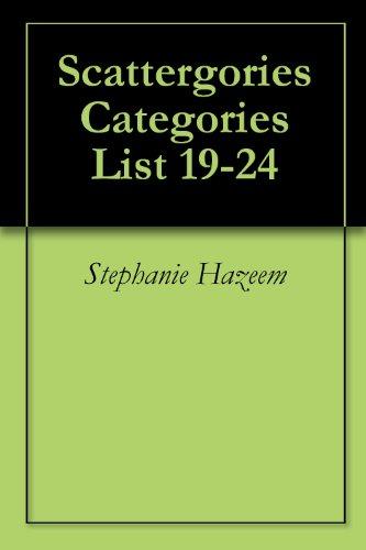 Scattergories Categories List 19-24 (English Edition)