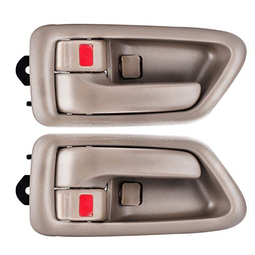 FAERSI 2Pcs Inside Interior Door Handle Front Rear Driver & Passenger Side Replacement for 1997 1998 1999 2000 2001 Toyota Camry Beige/Tan