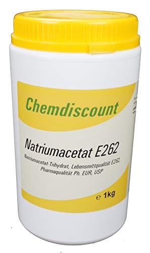 1kg Natriumacetat Pharmaqualität Ph. EUR USP und Lebensmittelqualität E262