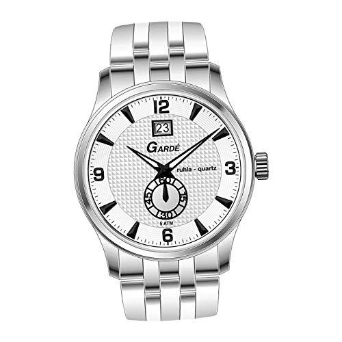 Garde, orologio da polso da uomo 22471, alla moda, in acciaio inox, colore argento, Elegance D2UGA22471, regalo per Natale, compleanno, San Valentino per uomo