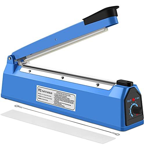 Nestling® Heat Sealer Plastic Bag Sealer Impulse Sealer Food Sealer Bag Packing Machine For PP And PE Plastic Bag Sealer (300 MM)