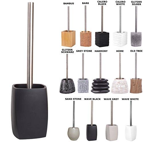 WC Bürste, viele schöne WC-Bürsten zur Auswahl, hochwertige Qualität, elegantes Design (Wave Black)