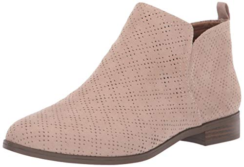Dr. Scholl's Shoes Women's Rise Ankle Boot, Putty Beige Microfiber Perforated, 8.5 M US