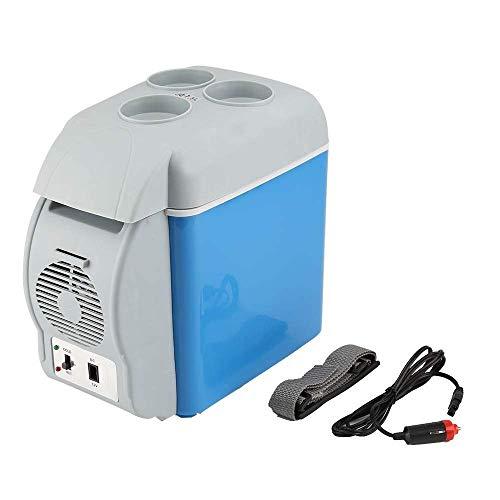 MiduoHu Control de Recorrido Caliente Frigorífico, 7.5L Mini Refrigerador y Calentador Portátil de Coche Dispositivo de Refrigeración Congelador 12 V Refrigerador for Viaje, Camping Viajar Oficinas
