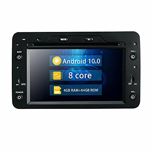 ROADYAKO 6.2Inch 64GB Indash Android 10.0 Car DVD Player Radio Stereo para Alfa Romeo Spider Romeo 159 Romeo Brera Romeo 159 Sportwagon 2005 2006 2007 2008 2009 Navegación GPS automática 4G