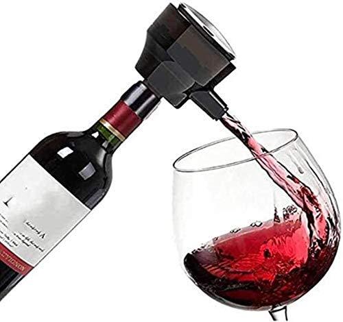 Decantador de vino de vino de cráneo y gafas Set ANTER ELECTRÓNICO ULTRASONIC, AEROTOR DE BUBBLER INTELIGENTE ELÉCTRICO PARA VINO ROJO, CERVEZA, VINO, AUMENTO RÁPIDO OXÍGENO, HERRAMIENTAS DE V