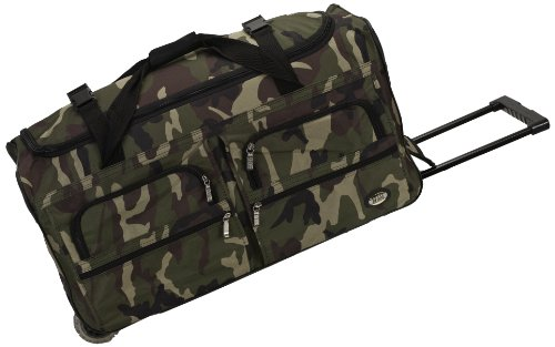 Rockland Rolling Duffel Bag, Camouflage