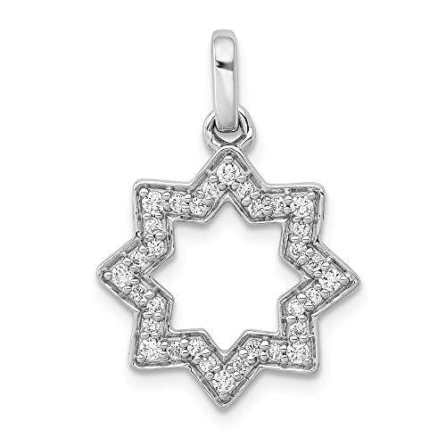 Jewels By Lux 14k White Gold 1/4ct. Diamond Star Of David Pendant (0.25 Ct Diamond Star)