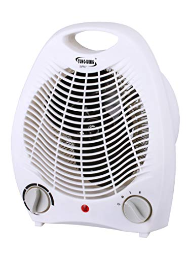 Big Save! Tung Wing Supply, 1500W Fan Portable Heater with Adjustable Thermostat, Overheat and Tip-O...