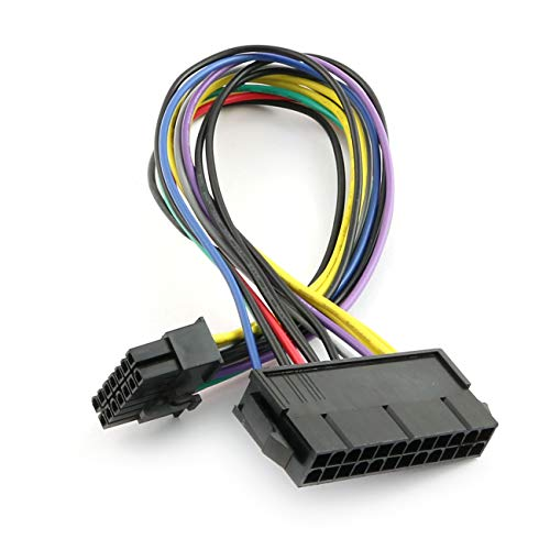 ZYAMY PC Power Supply Upgrade Manually Convert 24-Pin to 14-Pin Cable Main Board Adapter Cable 30cm for ATX Power Supply