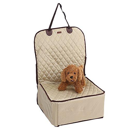 Pongnas Honden autostoel, extra zitje voor huisdieren en honden, 2 in 1, waterdicht, afzonderlijke voorstoel, extra zitje, huisdierhouder, stoelbeschermer, reizen