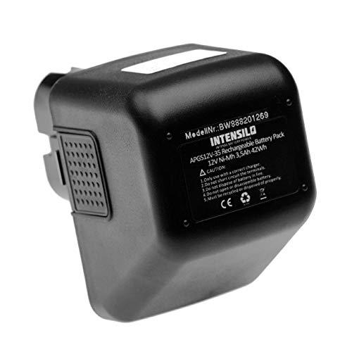INTENSILO batería compatible con Lematec 12V herramienta eléctrica (3500mAh, 12V, NiMH)