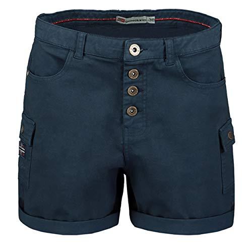 GEO NORWAY Polla Lady- Pantalones Cortos de algodón para Mujer - Pantalones Cortos Bermudas Mujer - Pantalones Cortos Chinos de algodón de Calidad Azul Marino - XXL