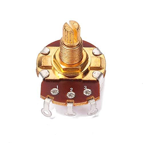 HEALLILY Potenciómetro Control Volumen Guitarra Largo Potenciómetros para Bajo Eléctrico A250k (Dorado)