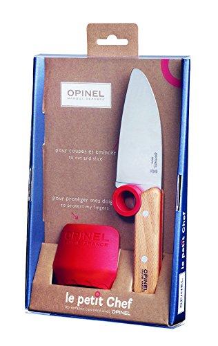 Opinel Unisex– Erwachsene Le Petit Chef, Küchenmesser-Set, 2-teilig Messer, grau, 26