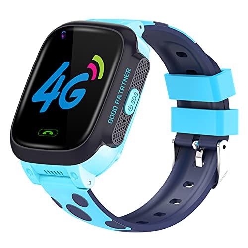 WMB Video Inteligente para Niños Reloj De Video 4G Posicionamiento GPS Posicionamiento Anti-Perdido LBS Tracker Reloj Impermeable para Android iOS,B