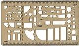 Schablone Sanitär 1:100 1:50 Installation Bad Montage Installateur Lineal