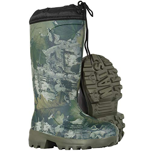 NAT'S 1530 Winter Hunting Boots for Men - Insulated Mud Boots for Men Up to -70°C - EVA boots, Ultralight (1.2 lbs), 100% Waterproof, with Removable Liners (numeric_13)
