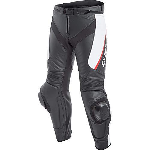 Dainese, Delta 3, leren broek, zwart/wit/rood, maat 50