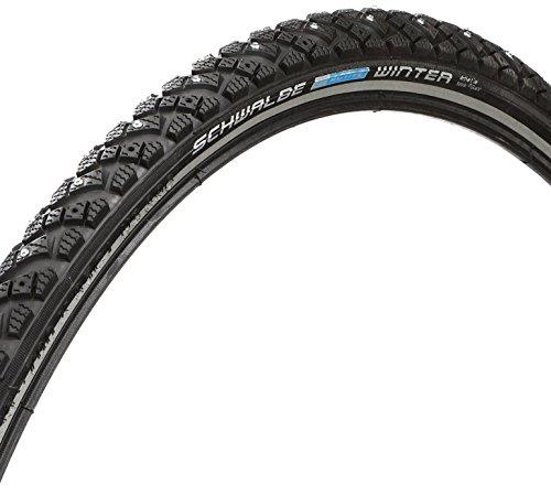Schwalbe Marathon Winter 26 x 1.75 Wire Clincher Studded Race Guard Tire, Black, 26' x 2/3