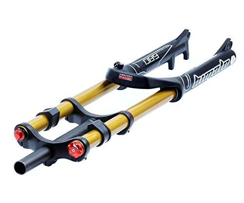 Horquilla de suspensión Ultraligera DH Cuesta Abajo Tenedor de suspensión 26 27.5 29 Pulgadas de Freno de Disco Freno de Bicicleta MTB 1-1/8 1-1/2 Mountain Bike Fork 135mm Travel QR con amortiguac