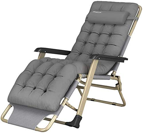 Sun Lounger Garden Chairs Zero Gravity Chair - Folding Reclining Sun Lounger Garden Recliner Deck Chairs with Cushion for Patio, Conservatory, Beach, Pool