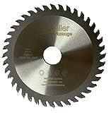 Hoja de sierra de carburo TCT, 125 mm con 40 dientes, para aluminio, cobre, madera y metales Ne