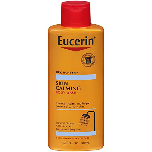 Eucerin Advanced Skin Calming Wash 16.9 Ounce (500ml) (3 Pack)