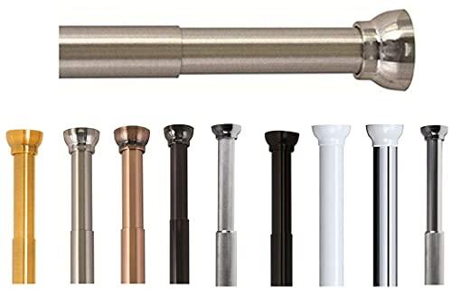 Spirella Teleskopstange Kreta | Duschvorhangstange ohne Bohren | Spannstange, durch Drehen verstellbar, sicherer Halt | als Duschstange, Kleiderstange | Silber matt 75-125 cm