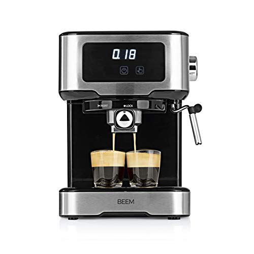 BEEM ESPRESSO-SELECT-TOUCH Espresso-Siebträgermaschine - 15 bar | Touch-Display | Edelstahl |Milchaufschäumer | Cappuccino | Espressomaschine