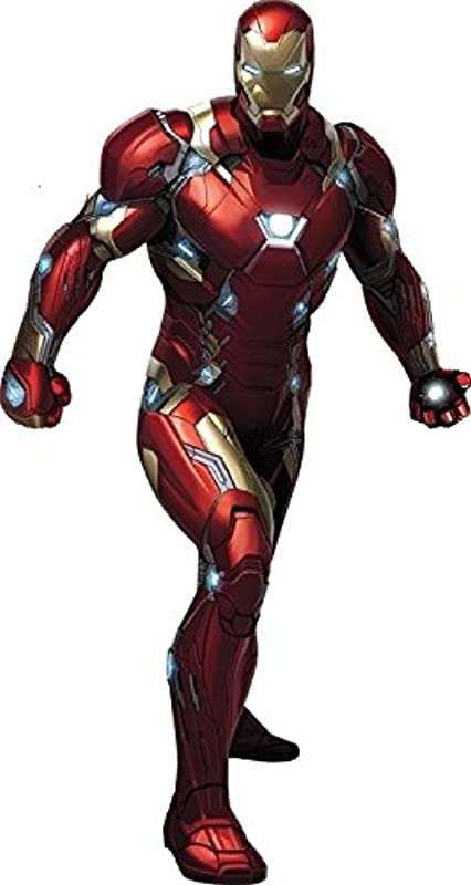 10 Inch Iron Man Captain America Civil War Team Stark Marvel Avengers Comics Removable Wall Decal Sticker Art Home Decor Kids Room Boys Decoration 5 1 2 By 10 1 2 Inches