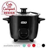 Dash DRCM200BK Mini Rice Cooker Steamer with Removable Nonstick Pot, Keep Warm Function & Recipe Guide, Black