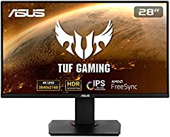 "Asus TUF Gaming VG289Q - Monitor Gaming de 28"" 4K (3840x2160, IPS, DCI-P3 , 60 Hz, 5 ms, LED, Adaptive-Sync, FreeSync, HDR 10, DisplayPort, HDMI) Negro"