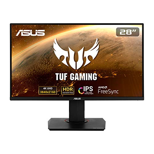 "ASUS TUF Gaming VG289Q - Ecran PC Gamer eSport 28"" 4K - Dalle IPS - 16:9 - 3840x2160 - 350cd/m² - Display Port & 2x HDMI - Haut-parleurs - AMD FreeSync - HDR 10 - 90% DCI-P3"