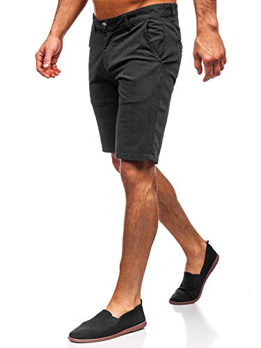 BOLF Herren Chino Shorts Kurze Hose Bermuda Oxford Shorts Regular Fit J. Boyz 1142 Schwarz 34 [7G7]