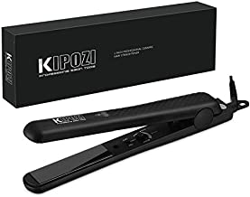 KIPOZI 1 Inch Flat Iron Professional Hair Straighteners Ceramic Plates Straightens & Curls All Hair Types Anti frizz 180℉ to 450℉ Adjustable Temp Dual Voltage Black