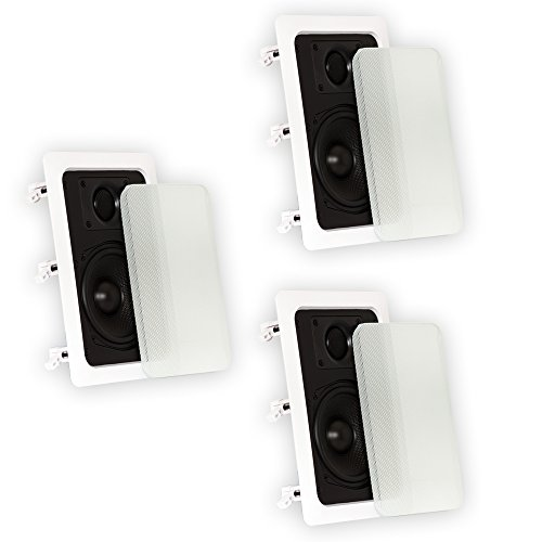 Best Price Theater Solutions TS50W in Wall Speakers Surround Sound Home Theater 3 Speaker Set