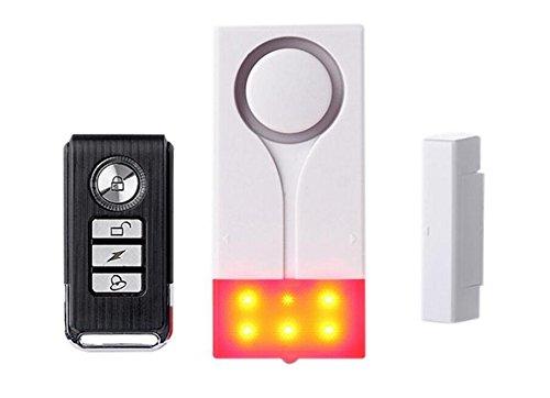 PDHU Warnmelder für Tür- und Fenstermontage, magnetisch, Weiß + Rot + Schwarz