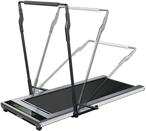 WalkSlim 770 Mini Walk Pro Walking Home Treadmill - Slim design with handle - light and portable and foldable home treadmill. LED Touchscreen, Intelligent speed control, lose weight and stay healthy.