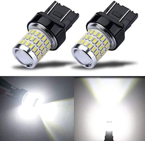 7443 7440 T20 W21/5W Bombillas LED Superbrillantes, Blanco xenón 6000K, Con Lente Proyector, para Luz de Freno, Luces Traseras, Luces diurnas, 2 pcs