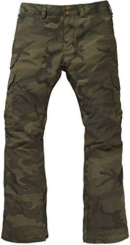 Burton Men's Cargo Snow Pant Regular Fit, Worn Camo, Small