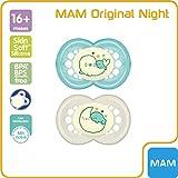MAM Original Night 16+ (2 unidades), Chupetes luminosos brillantes en la...