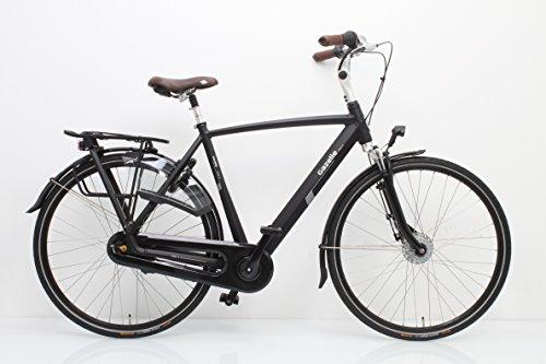 Bicicleta holandesa Gazelle Arroyo C7+ para hombre, color negro, 2018, talla 57 cm.