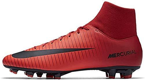 Nike Mercurial Victory VI DF Fg, Scarpe da Calcio Uomo, Rosso/Nero, 45 EU