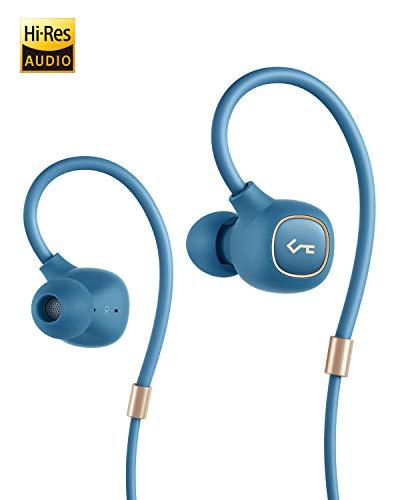 AUKEY Bluetooth Kopfhörer, Key Series Bluetooth 5 In Ear Kopfhörer mit Hybrid Treibern, aptX Low Latency, IPX6 Wasserdicht, 8 Stunden Spielzeit und Mikrofon für iPhone, iPad, Samsung, Huawei und Sony