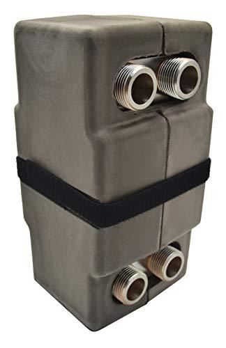 """Intercambiador de calor Nordic Tec Ba-12-30 de acero inoxidable, con aislamiento, 30 placas, 65 kW, 3/4"""""""