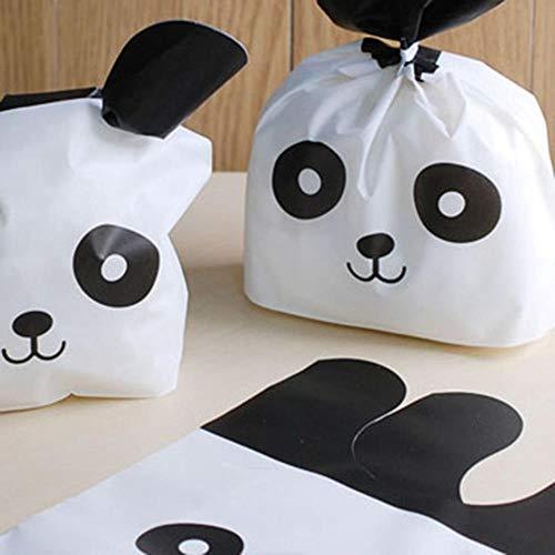 25 stks Leuke Bunny Cookies Tassen Snoep Voedsel Koekje Verpakking Zachte Tas Snoep Gift Tassen Verjaardag Baby Douche Gunsten Feestartikelen, Panda, 12345678