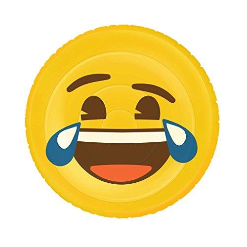 Emoji Inflable Flotador Cara Graciosa XL, piscina y playa, Ø 140 cm