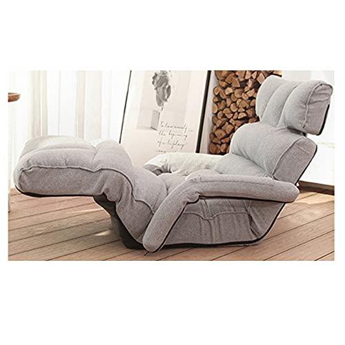 Xin Hai Yuan Sofá moderno de piso reclinable ajustable muebles de sala de estar estilo japonés sofá cama plegable sillón chaise lounge, gris